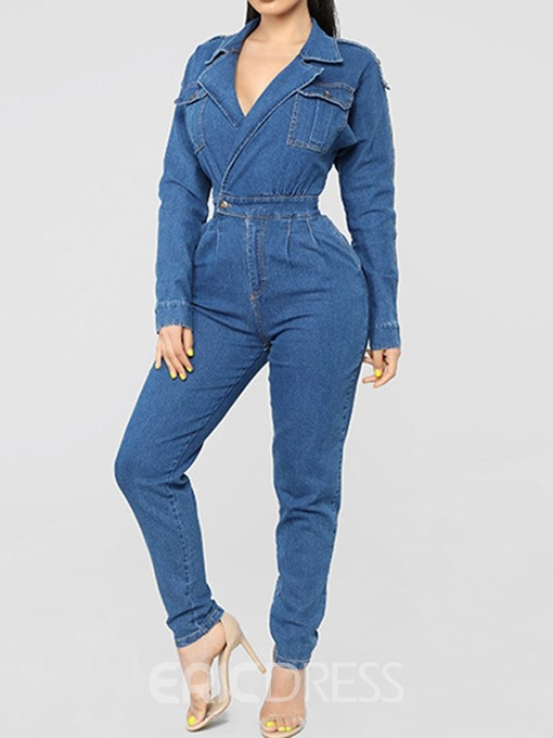 Ericdress Full Length Slim Plain Jumpsuit