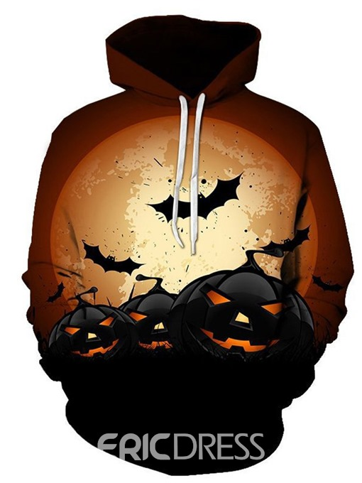 Ericdress Print Color Block Pullover Halloween Costume Loose Men's Hoodies