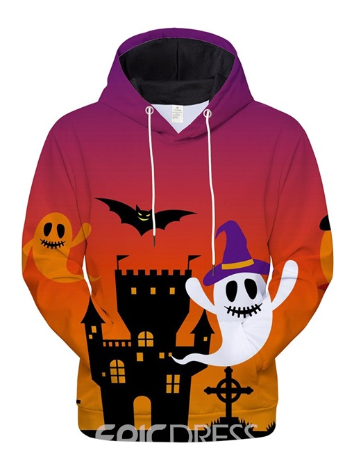 Ericdress Pullover Print Architecture Men's Loose Halloween Costume Hoodies