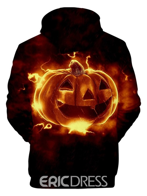 Ericdress 3D Fleece Color Block Loose Halloween Costume Men's Casual Hoodies