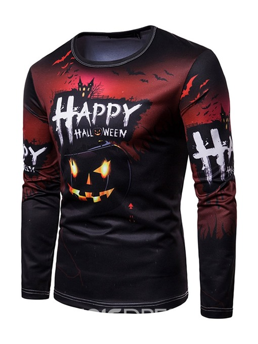 Ericdress Print Letter Casual Straight Halloween Costume Men's Shirt