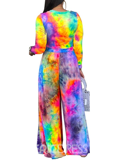 Ericdress Gradient Full Length High Waist Slim Jumpsuit