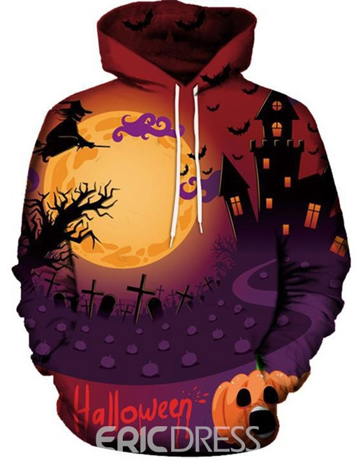 Ericdress Architecture Pullover Print Loose Men's Halloween Costume Hoodies