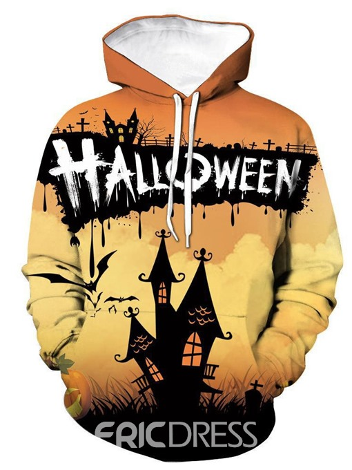 Ericdress Letter Pullover Pocket Loose Casual Halloween Costume Men's Hoodies