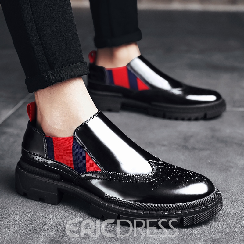 Ericdress Low-Cut Upper Round Toe Slip-On Men's Dress Shoes