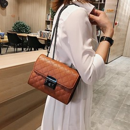 Ericdress Plaid Rectangle Crossbody Bags