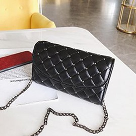 Ericdress Plaid Rivet Chain Rectangle Crossbody Bags