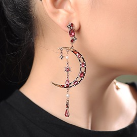 Ericdress Gemmed Alloy Anniversary Earrings