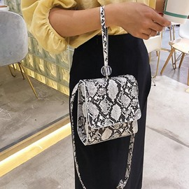 Ericdress Serpentine Embossing Rectangle Crossbody Bags