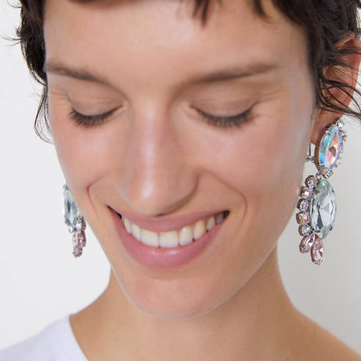 Ericdress Rhinestone Color Block Holiday Earrings