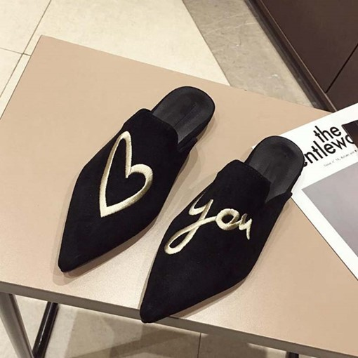 Ericdress Embroidery Slip-On Closed Toe Women's Mules Shoes