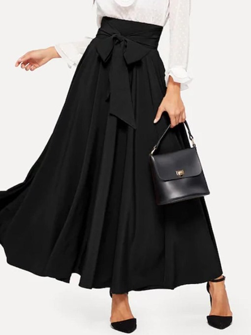 Ericdress Fashion Bowknot Plain Ankle-Length Bud Elegant Skirt