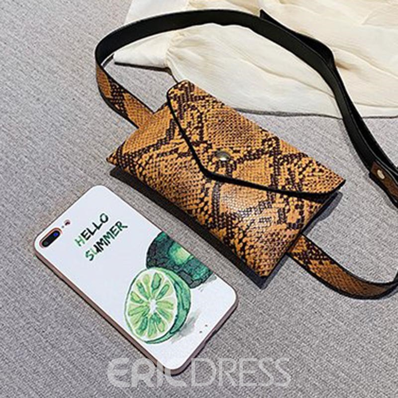 Ericdress Serpentine Women's Envelope Waist Bags