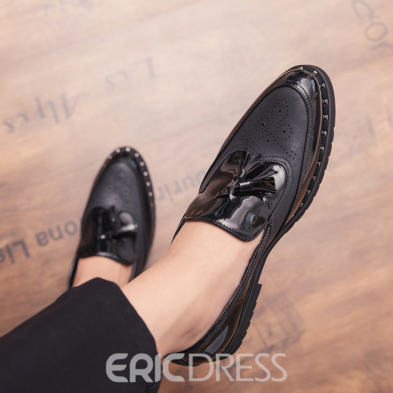 Ericdress PU Fringe Low-Cut Upper Men's Dress Shoes