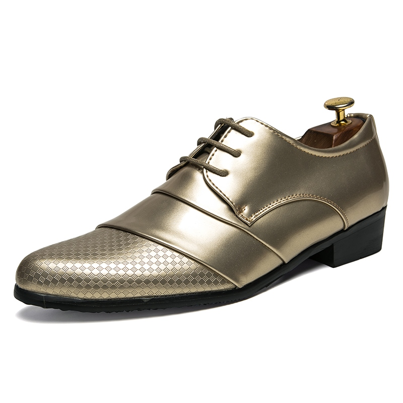 Ericdress Patchwork Low-Cut Upper Pointed Toe Men's Dress Shoes