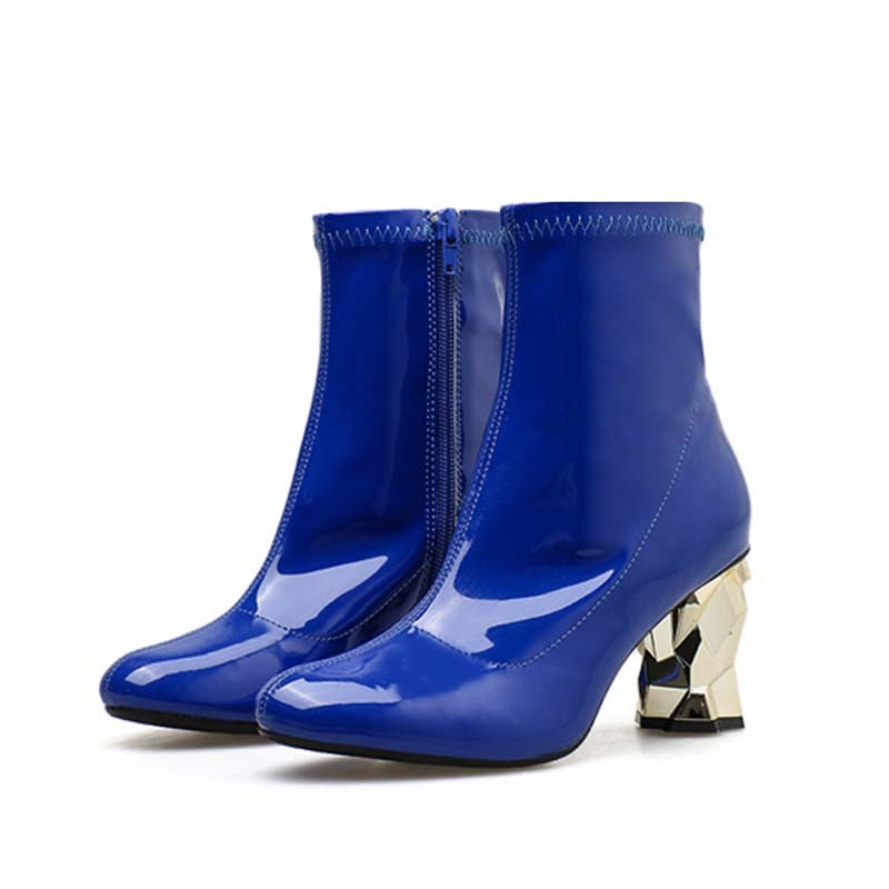 Ericdress PU Round Toe Chunky Heel Women's Fashion Ankle Boots
