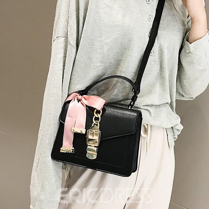 Ericdress PU Color Block Flap Women's Tote Bags