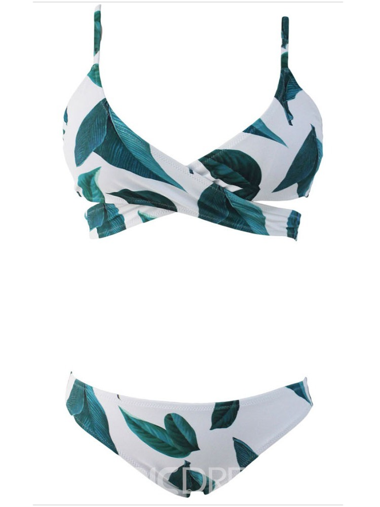 Ericdress Bikini Set Color Block Print Swimwear