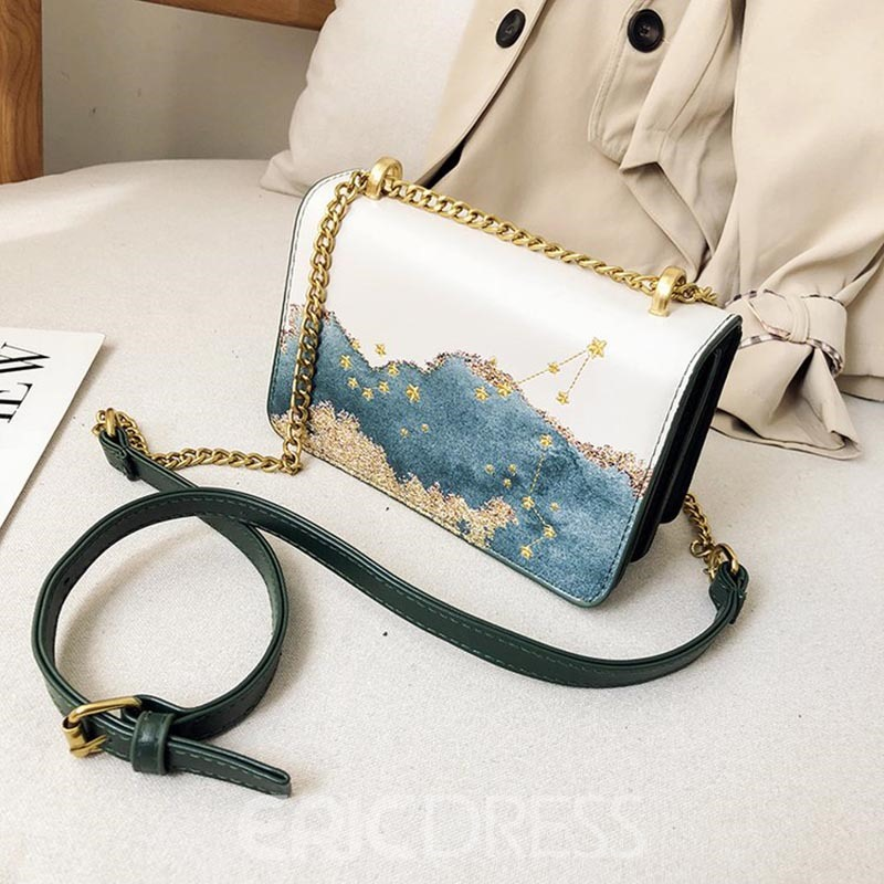 Ericdress PU Print Geometric Rectangle Crossbody Bags