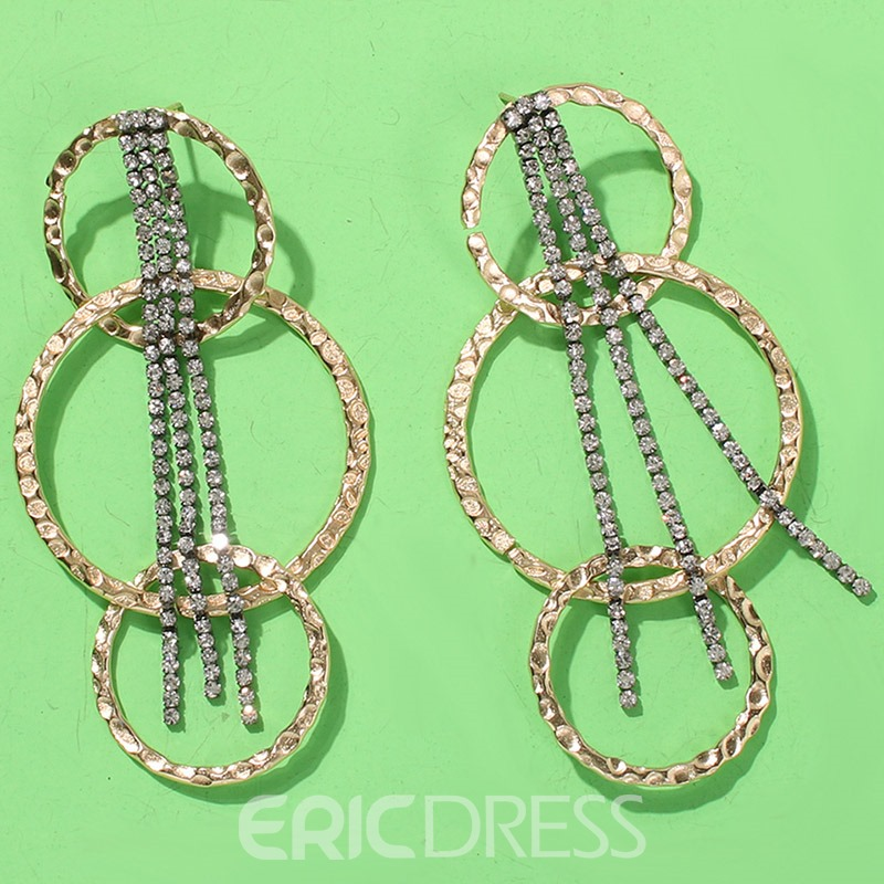 Ericdress Rhinestone Gift Drop Earrings