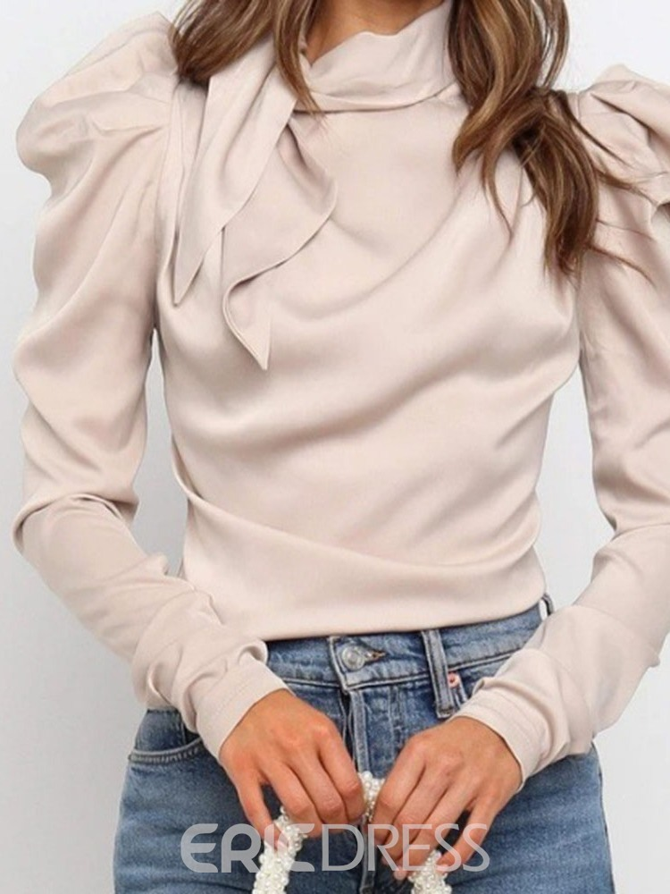 Ericdress Plain Long Sleeve Standard Blouse