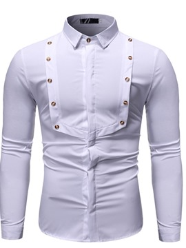 Ericdress Button Lapel Fashion Slim Single-Breasted Men's Shirt