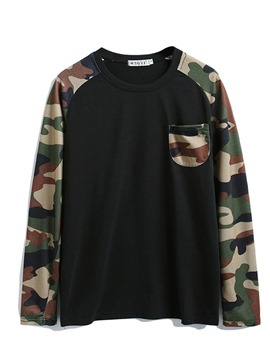 Ericdress Print Casual Camouflage Men's Slim T-shirt