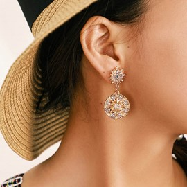 Ericdress Rhinestone Vintage Alloy Prom Earrings