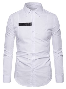 Ericdress Color Block Casual Lapel Single-Breasted Spring Men's Shirt