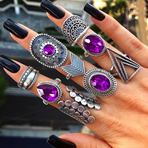 Ericdress Gemmed Alloy Prom Rings