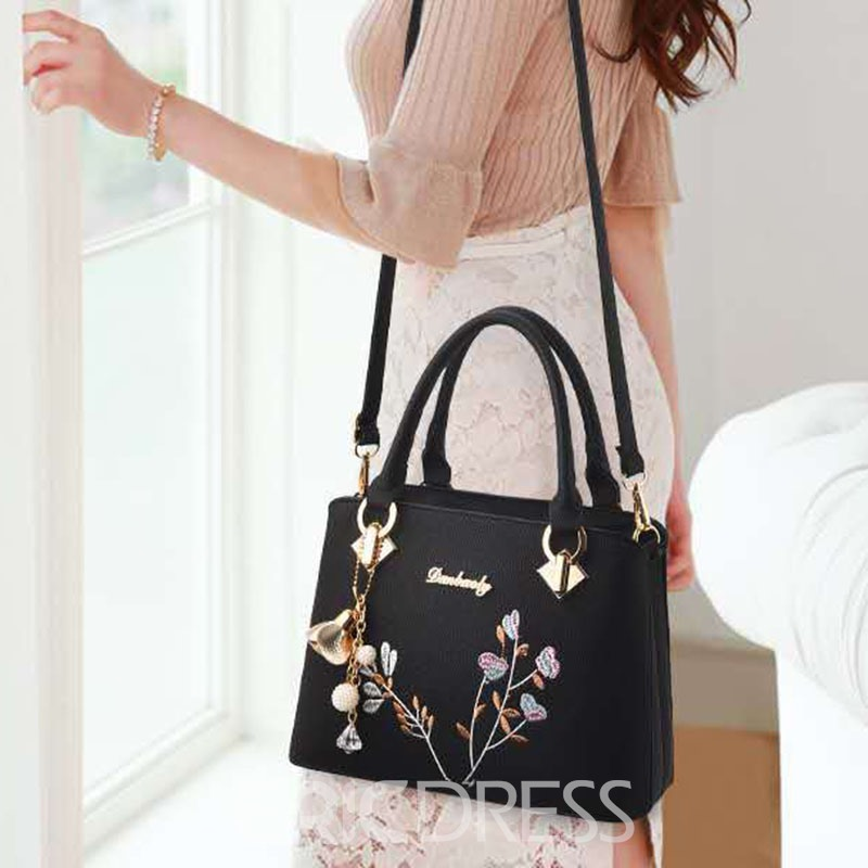 Ericdress Embroidery Floral Rectangle Tote Bags