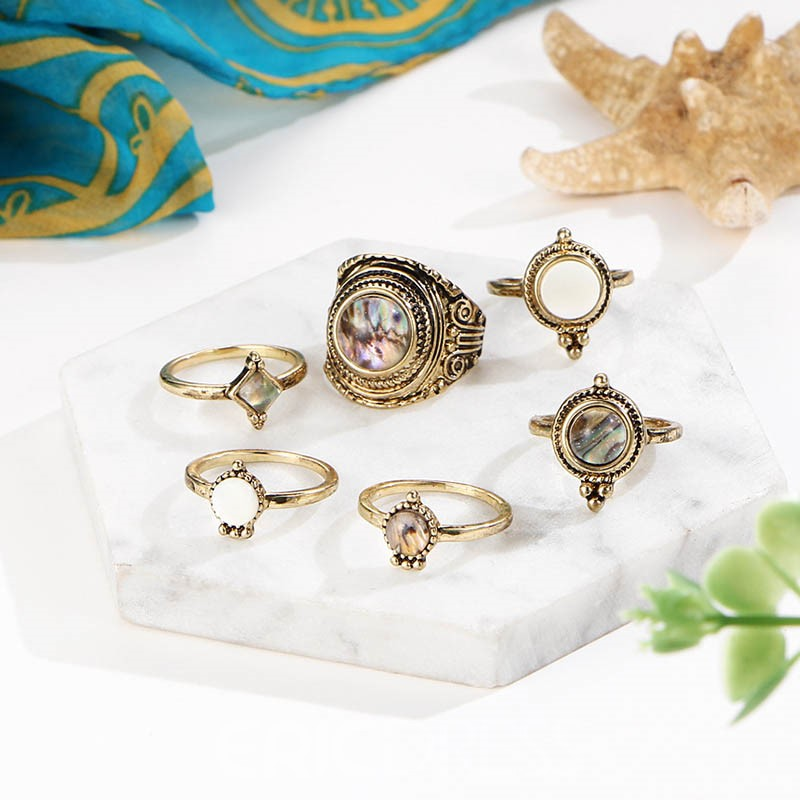 Ericdress Gemmed Vintage Alloy Party Rings