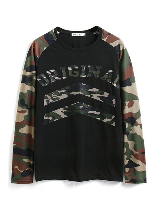 Ericdress Camouflage Print Round Neck Men's Slim T-shirt
