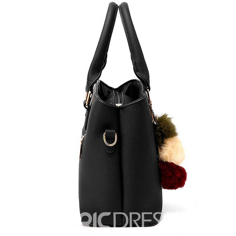 Ericdress Plain Belt-Decorated Rectangle Tote Bags