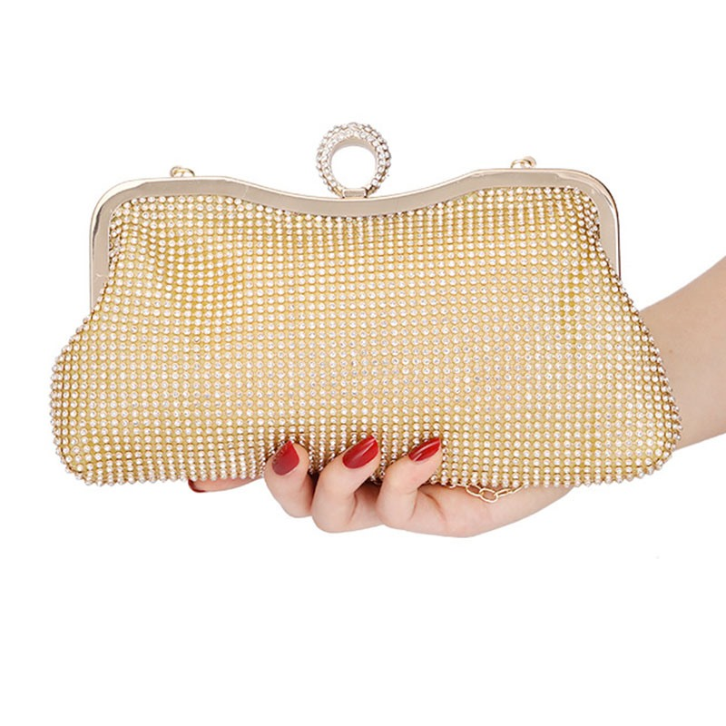 Ericdress Rhinestone Plain Banquet Clutches & Evening Bags