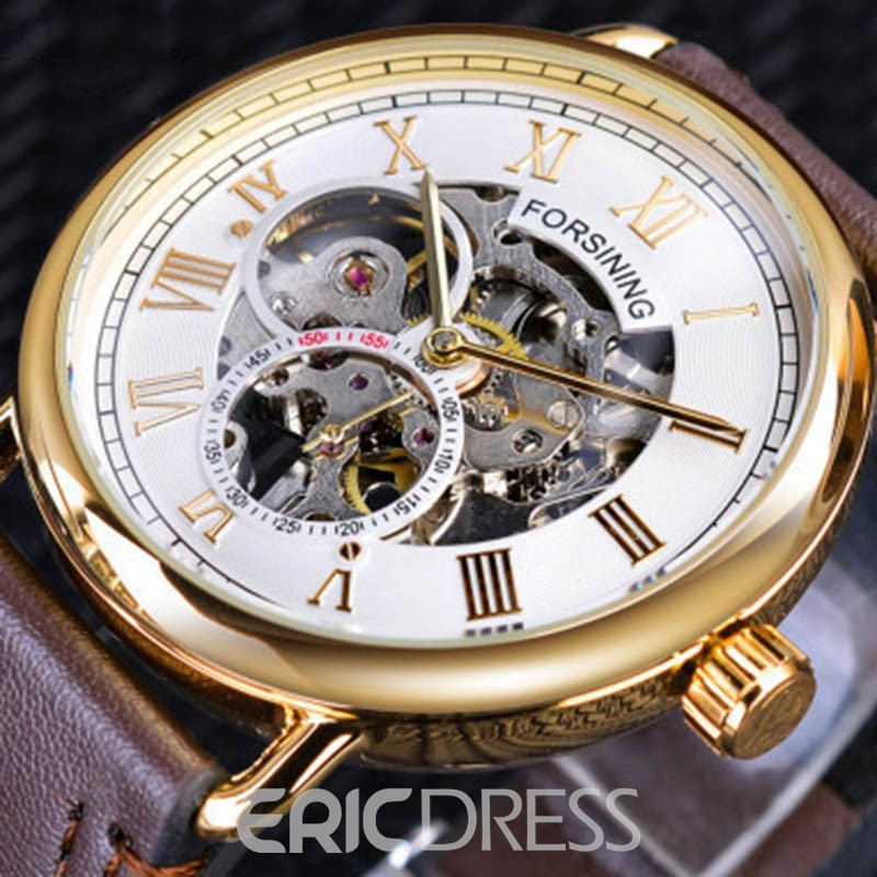 Ericdress Mechanical Hand Wind Plastic Men's Watches