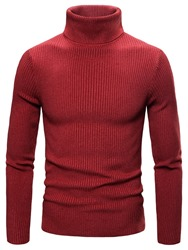 Ericdress Plain Thread Turtleneck Mens Slim Sweater фото