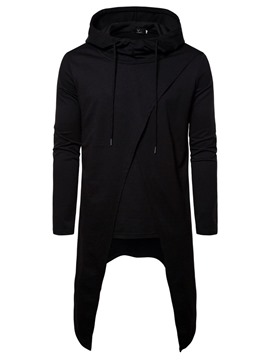 Ericdress Pullover Plain Men's Slim Hoodies