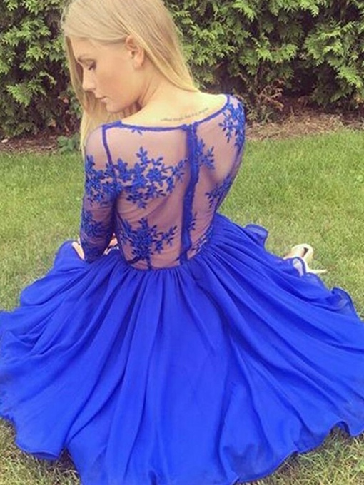 Ericdress Long Sleeves Lace Short Homecoming Dress