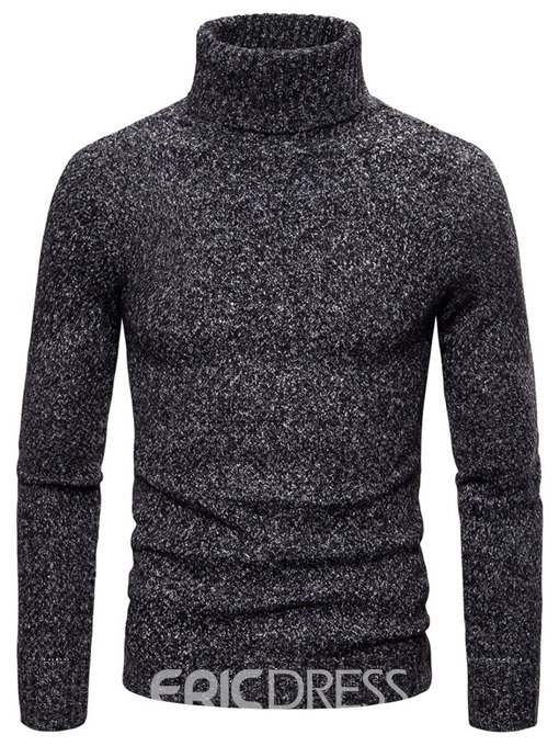 Ericdress Plain Turtleneck Standard Casual Men's Sweater