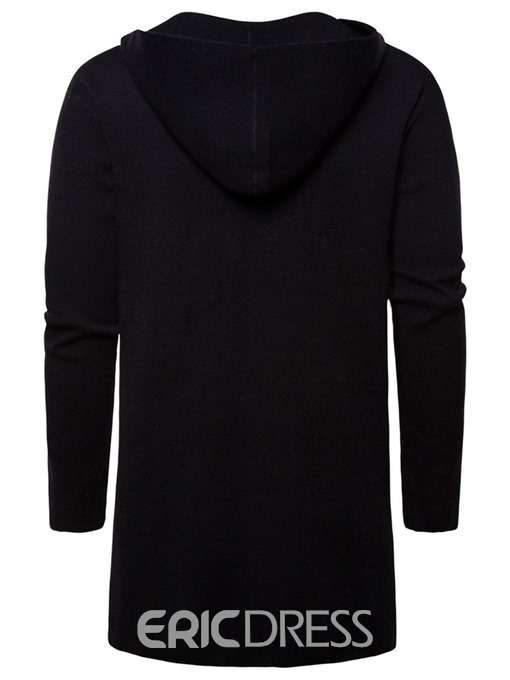 Ericdress Mid-Length Pocket Hooded Men's Slim Wrapped Sweater