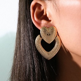 Ericdress Heart-Shaped Holiday Earrings
