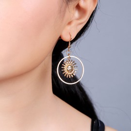 Ericdress Alloy E-Plating Anniversary Earrings