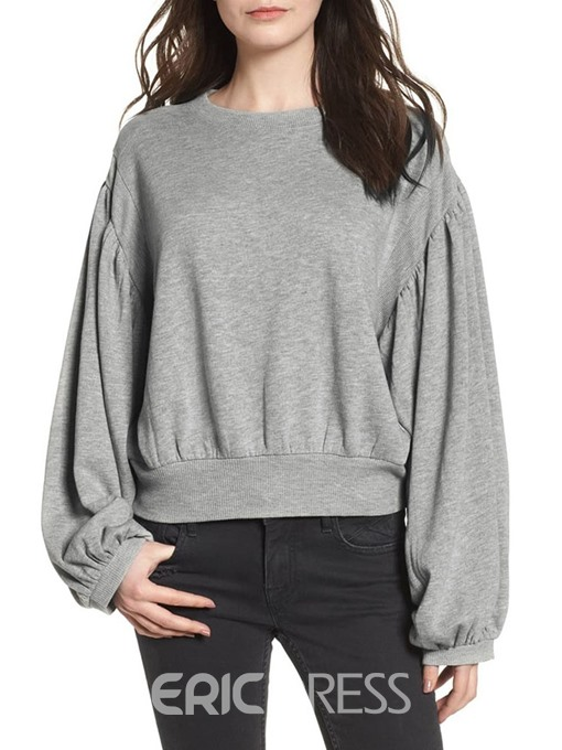 Ericdress Plain Fall Mid-Length Hoodie