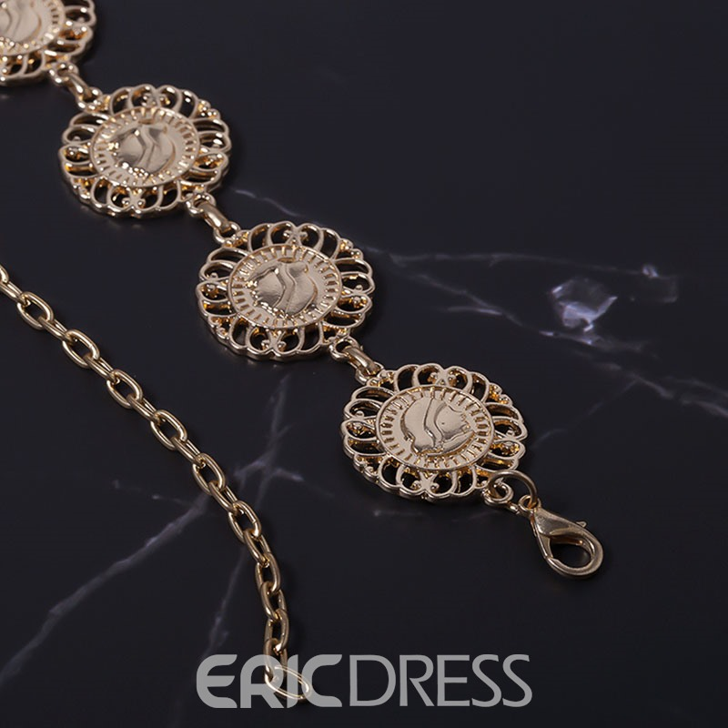 Ericdress Vintage Hollow Out Waist Chains