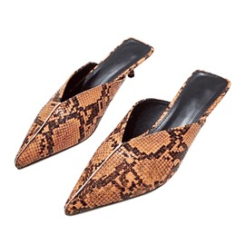 Ericdress Serpentine Slip-On Stiletto Heel Women's Mules Shoes