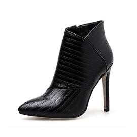 Ericdress Side Zipper Pointed Toe Stiletto Heel Women's Ankle Boots
