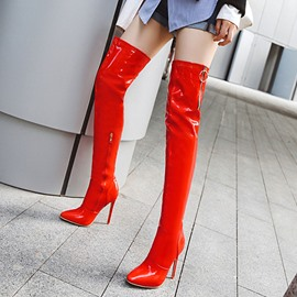Ericdress Stiletto Heel Side Zipper Pointed Toe Women's Knee High Boots