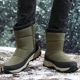 Ericdress Side Zipper Round Toe Men's Snow Boots