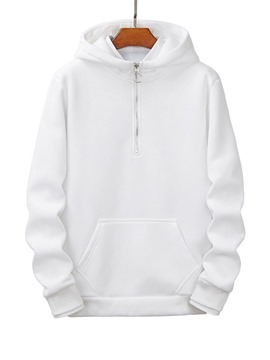 Ericdress Zipper Plain Pullover Spring Loose Men's Hoodies